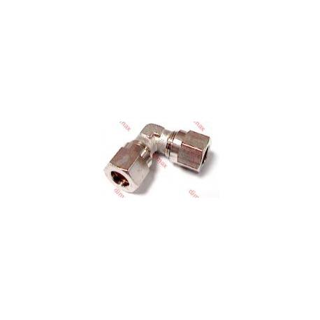 NICKEL PLATED BRASS ELBOW ADAPTORS M-M 12
