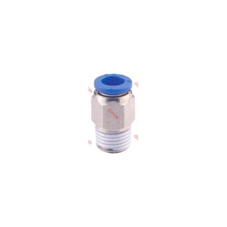 STRAIGHT MALE INCH NPT PUSH-IN FITTING 3/8 - 1/8