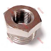 REDUCER FEMALE CYLINDRICAL-MALE TAPER BSPT 1/4- 1/8
