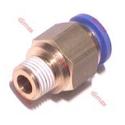 STRAIGHT MALE PUSH-IN FITTINGS BSPT 6-1/8