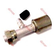 FEMALE REFILLING VALVE SMOOTH SEAT O'RING 3/4 x 16 - 13/32