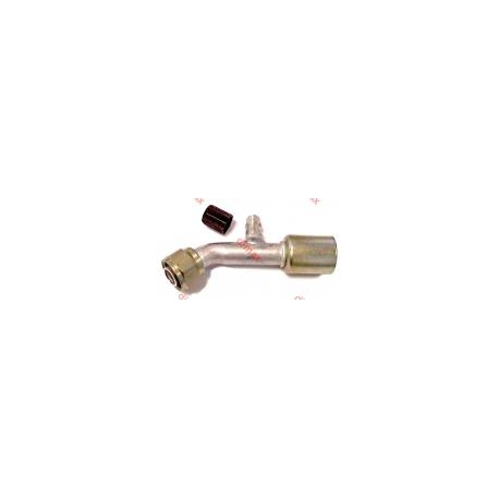 FEMALE REFILLING VALVE SMOOTH SEAT O'RING 45o 5/8 x 18 - 5/16