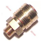 GERMAN MALE QUICK COUPLERS NW7.2 - 1/4